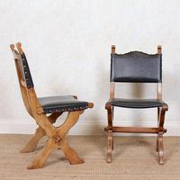 6 Oak Gothic Dining Chairs Carved (6 of 14)
