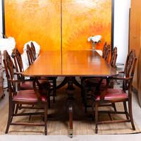Dining Table & 8 Chairs Mahogany 3.2 Metres Long Hepplewhite Stalker (2 of 16)