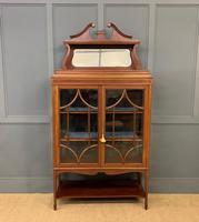 Inlaid Mahogany Edwardian Display Cabinet (2 of 12)