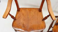 Pair of Victorian Rope Back Oxford Chairs in Elm & Beech (9 of 15)