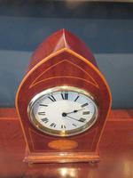 Superb Antique Sheraton Inlaid Mantel Clock (2 of 6)