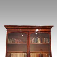 Victorian mahogany library bookcase (5 of 11)