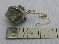 9ct gold and iron pyrite earrings (4 of 5)