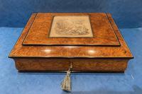 Victorian Burr Elm Jewellery Box