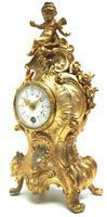 Antique 8 Day Ormolu Mantel Clock Set Cherubs At Play 8 Day Mantle Clock (7 of 11)