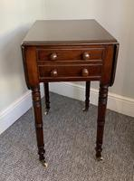 Victorian Mahogany Drop Flap Work Table (9 of 18)