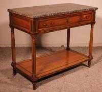 Louis XVI Console in Cherrywood, 18th Century Stamped LM Pluvinet (13 of 15)