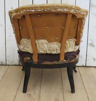 Antique French Button Back Tub Chair (6 of 8)