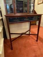 Late Victorian / Edwardian Mahogany Glazed Display Cabinet (4 of 4)