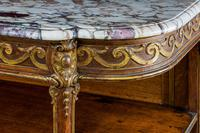 Mid 19th Century Oak & Parcel Gilt Side Table (4 of 7)