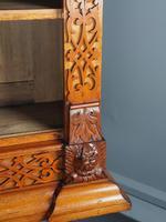 Antique Victorian Golden Oak Open Bookcase (4 of 20)