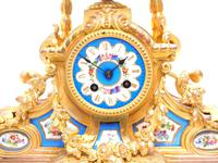 Stunning Quality French Mantel Clock Urn Top Blue Sevres Porcelain Mantle Clock. (11 of 12)