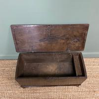 Small Period Oak Six Plank Antique Coffer (6 of 7)