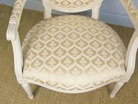 19th Century French Painted Fauteil Armchair (8 of 9)