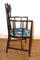 Arts & Crafts Inlaid Armchair by J S Henry 'London' (3 of 9)