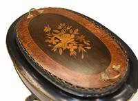 French Side Table Stand Marquetry Inlay c.1880 (6 of 13)