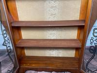 Art Deco Walnut Curved Bookcase Display Storage Cabinet (28 of 29)