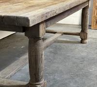 Rare Large & Deep Oak Farmhouse Dining Table (16 of 31)