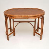 Vintage 1970's Bamboo & Rattan Games Table & Chairs (5 of 12)
