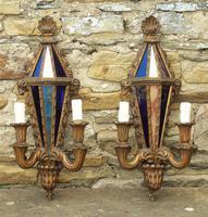 Pair of Antique Venetian Gilt Wall Lights