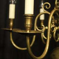 English Pair of 6 Light Antique Chandeliers (8 of 10)