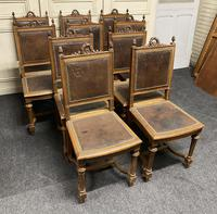Set of 10 French Walnut Dining Chairs (10 of 15)