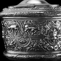 Rare Antique Solid Silver Cellini Tea Caddy Box - Mappin & Webb 1902 (28 of 28)