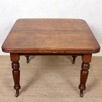 Oak Dining Table 6 Seater Victorian Wild Golden Oak 19th Century Solid (3 of 16)