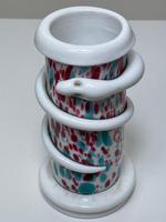 Decorative Small Art Deco Czech Snake Coiled Art Glass Vase (15 of 29)