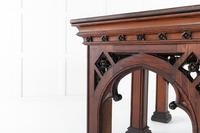 19th Century Victorian Gothic Pine Console Table (7 of 9)