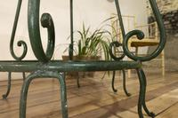 """A 20th Century French Iron and Marble """"orangerie"""" Centre - Garden Table (9 of 13)"""