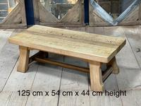 French or Scandinavian Bleached Oak Coffee Table (2 of 15)