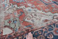 Antique Serapi Heriz Carpet 374x260cm (7 of 13)
