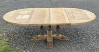 Large Round French Bleached Oak Farmhouse Table with Extensions (34 of 38)