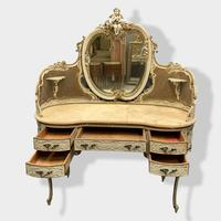 Italian Paint and Cane Dressing Table (3 of 8)