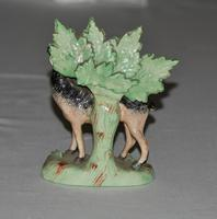 19th Century Staffordshire Model of a Black & Tan Deer (2 of 4)