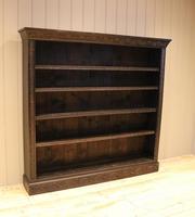 Large Victorian Open Dark Oak Bookcase (6 of 10)