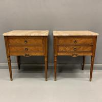 Set of 4 French Marble Top Side Tables (10 of 11)
