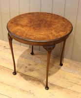 Low Circular Walnut Table (3 of 9)