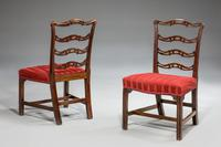 Pair of  Chippendale Period Ladderback Side Chairs (2 of 6)