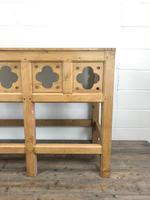 Victorian Pine Church Altar Table in Gothic Design (7 of 14)