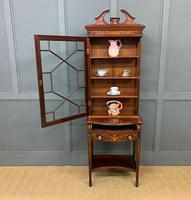 Edwardian Slender Inlaid Mahogany Display Cabinet (14 of 21)