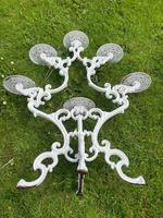 Victorian 19th Century Garden Cast Iron Painted White 6 Branch Plant Stand (32 of 47)
