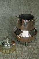 19th Century Dutch Copper & Brass Ash Bucket 'Doofpot' Peat Castellated Seam (5 of 9)