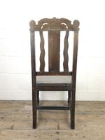 19th Century Antique Gothic Carved Oak Chair (8 of 8)