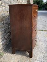 Large Regency Mahogany Bow Front Chest of Drawers (4 of 19)