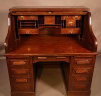Good Oak Roll Top Desk by Maples London (2 of 12)