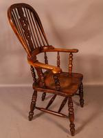 Victorian Broad Arm Windsor Chair Ash & Elm (4 of 9)