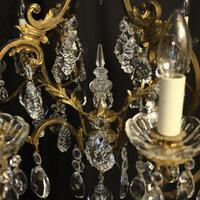 French Bronze & Crystal 12 Light Chandelier (9 of 10)