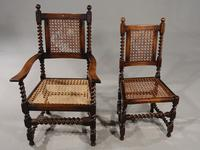 Attractive Set of 6 Early 20th Century Jacobean Style Chairs in Oak (2 of 4)